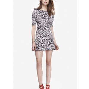 Express short dress Snake Drop Waist Ruffle on Tradesy