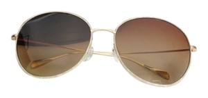 Oliver Peoples OLIVER PEOPLES Gold Rimmed Metal Round Sunglasses 5149/9P Blondell