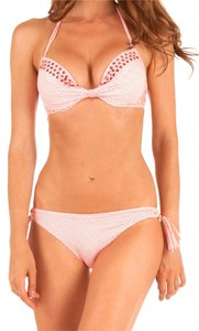 Pin-Up Stars Luxury Designer Two-Piece Push-Up Underwired Bikini Set Orange With Crystals Made in Italy Size US S/ IT 42/ Cup B Retail: $320