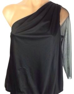 Rachel Roy One Shoulder Top Black