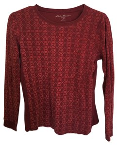 Eddie Bauer Print Thermal T Shirt Red