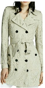 Burberry London Lace Trench Jacket Long Trench Coat