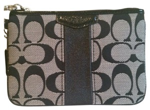 Coach Wristlet in Black/Black White