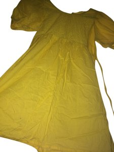 Tramp short dress Yellow on Tradesy