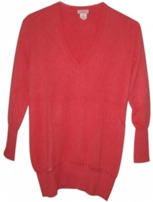Preload https://item5.tradesy.com/images/jcrew-watermelon-cashmere-sweaterpullover-size-2-xs-13549-0-0.jpg?width=400&height=650
