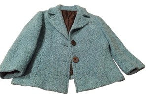 CAbi Wool Lined Turquoise Blazer