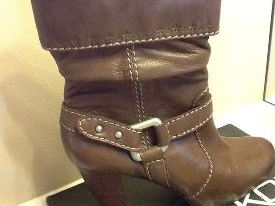 Fossil Leather Heel Brown Boots