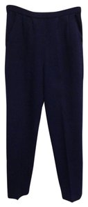 St. John Navy Santana Knit Pleated Usa Pants