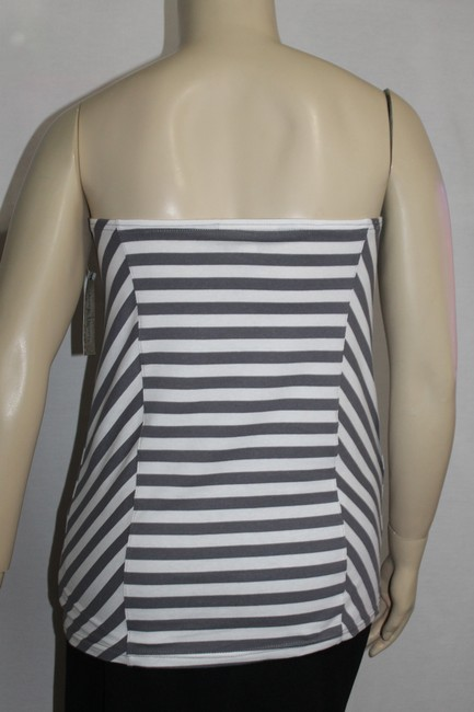 Derk Heart Plus White/Gray Halter Top