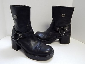 Harley Davidson Leather Black Boots