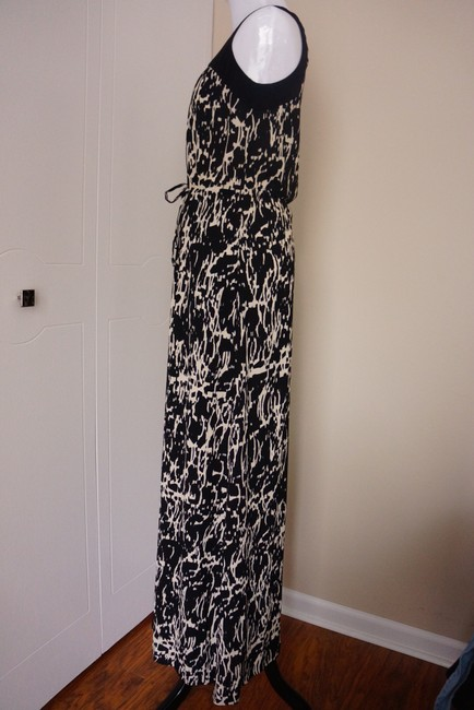black and white Maxi Dress by Kenneth Cole Printed Maxi Resort