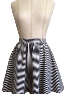 Lucca Couture Mini Skirt White and navy