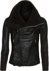 Rick Owens Leather Biker Motorcycle Jacket