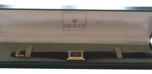 Gucci Gucci ladies watch. Hard to find rectangular face.