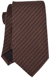 Gucci NEW Gucci Men's 351825 Brown Grey Interlocking GG Horsebit Silk Neck Tie