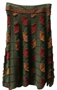 Etro Skirt Green/Red/Gold