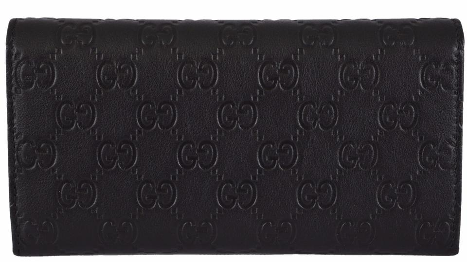 238dceeea3a4 Gucci New Gucci Women's 346058 Black Leather GG Guccissima Continental Bifold  Wallet Image 10. 1234567891011