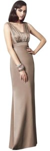 Dessy Full Length Satin Dress