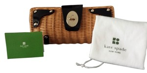 Kate Spade Woven Straw Clutch