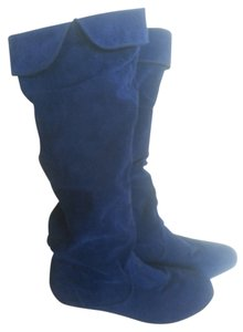 Qupid Navy Blue Boots