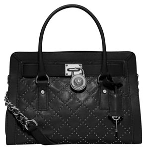 Michael Kors Limited Edition Studded Satchel in Black