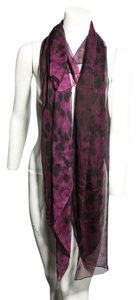 Alexander McQueen * ALEXANDER MCQUEEN Purple And Black Cashmere-Silk Scarf
