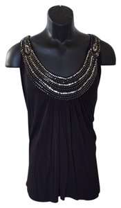 AVENUE STUDIO Siver Top Black with gold and silver sequins