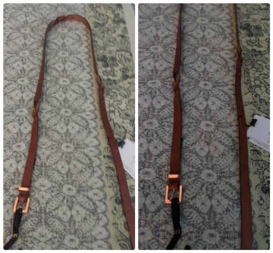 Mango Mango Leather slim belt