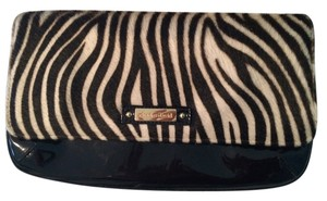 Charles David Zebra Black Clutch