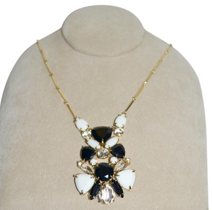 Kate Spade KATE SPADE New Twinkling Lights CZ Crystals Necklace Black Cream Clear