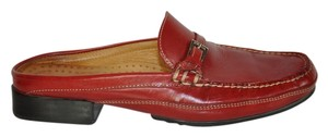 Cole Haan Leather Red Mules