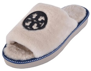 Tory Burch Slides Slippers White Sandals