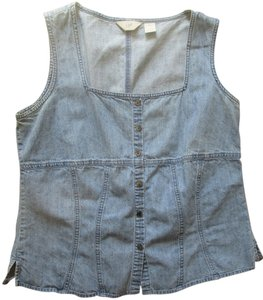 J. Jill Summer Top Denim