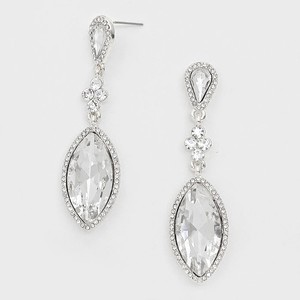 Elegant Rhinestone Crystal Marquise Dangle Earrings