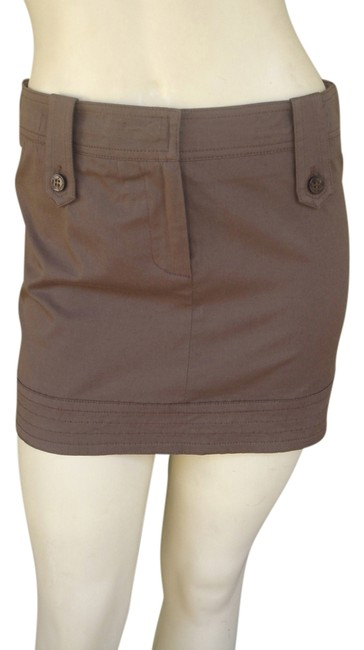 Blumarine Mini Stretch Mini Skirt Brown