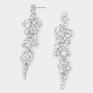 Elegant Rhinestone Crystal Dangle Earrings