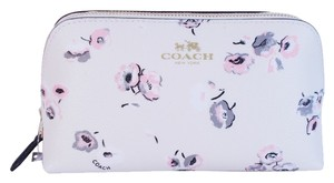 Coach Coach F65441 Wildflower Print Cosmetic Case Travel Pouch Leather Bag Purse NWT