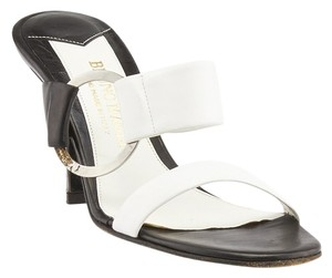 Bruno Magli White & Black Sandals