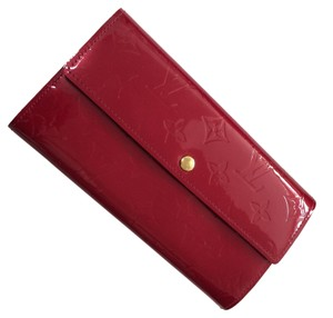 Louis Vuitton Red Patent Louis Vuitton Monogram Wallet