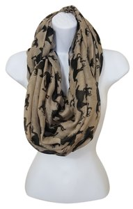 Horse Print Infinity Scarf NWOT