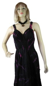 Black/Violet Maxi Dress by Lapogee
