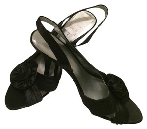 Nine West Satin Slingbacks Dressy black Formal