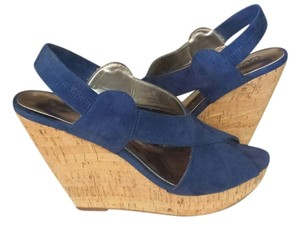 Carlos by Carlos Santana Wedge Blue Wedges