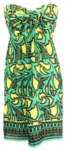 MILLY short dress Green Yellow on Tradesy