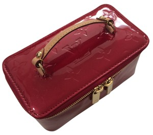 Louis Vuitton Jewelry Train Case Cross Body Travel red Travel Bag