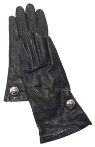 Michael Kors Black Leather XS Gloves