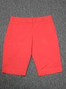 Theory Flat Front Bermuda Shorts Red
