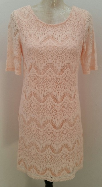Preload https://item1.tradesy.com/images/forever-21-pink-lace-knee-length-night-out-dress-size-8-m-1355885-0-0.jpg?width=400&height=650