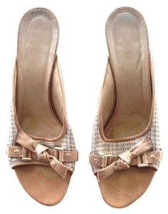 Leather Woven Sandal Heel Tans Sandals