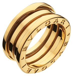 BVLGARI Bvlgari B.Zero1 18K Yellow Gold 3 Band Ring AN191023 US 4.5